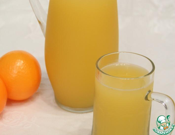 Рецепт: Апельсиновый квас