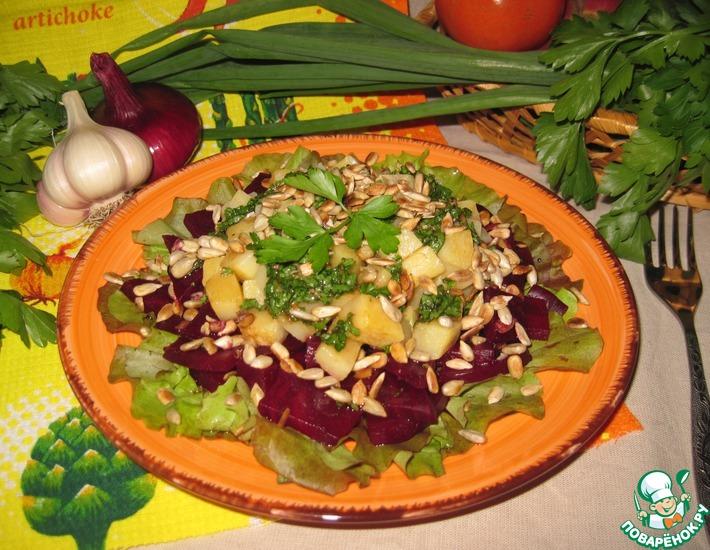 Рецепт: Салат из брюквы и свеклы