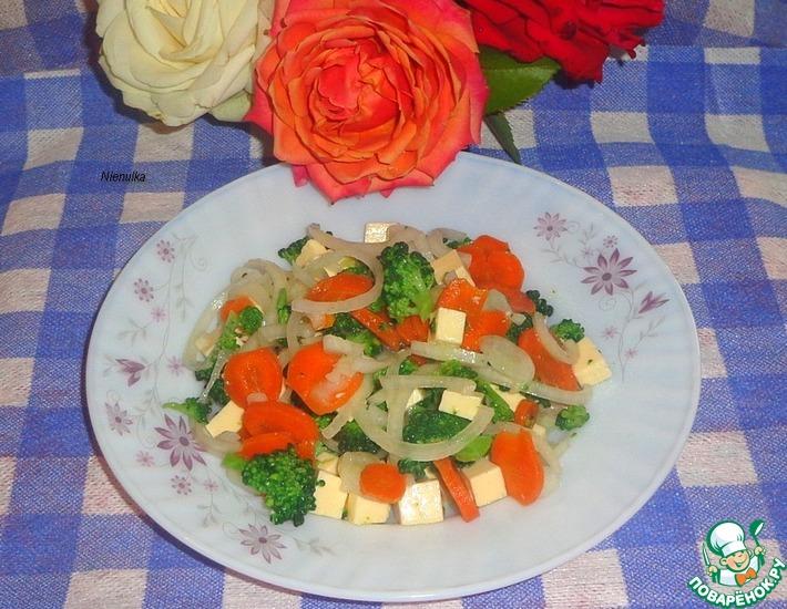 Рецепт: Салат с плавленным сыром и брокколи