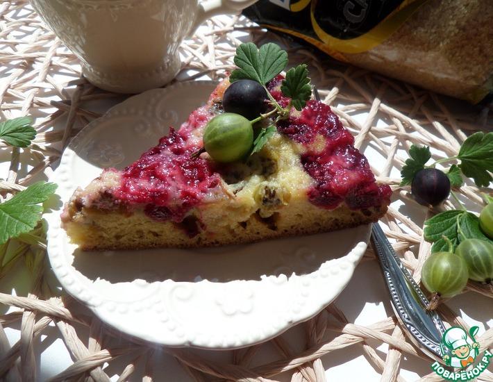 Рецепт: Пирог с крыжовником Полосатый