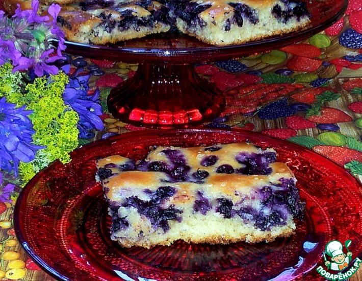 Рецепт: Быстрый черничный пирог