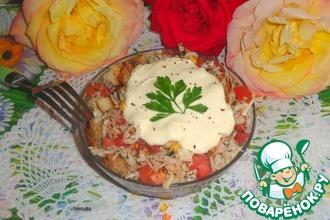 Рецепт: Капустный салат с кукурузой и сухариками