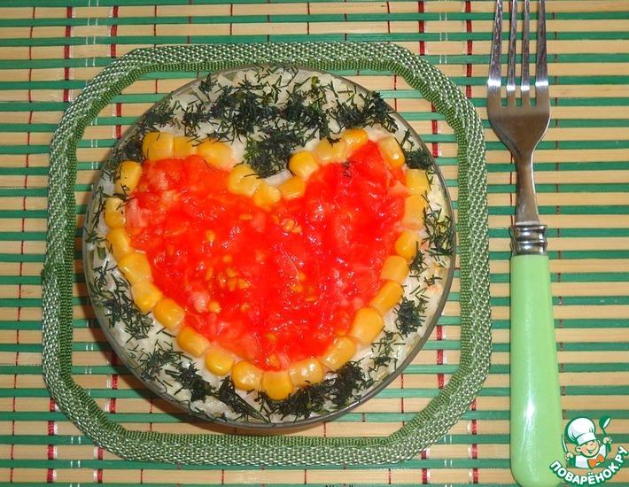 Рецепт: Салат Люблю тебя
