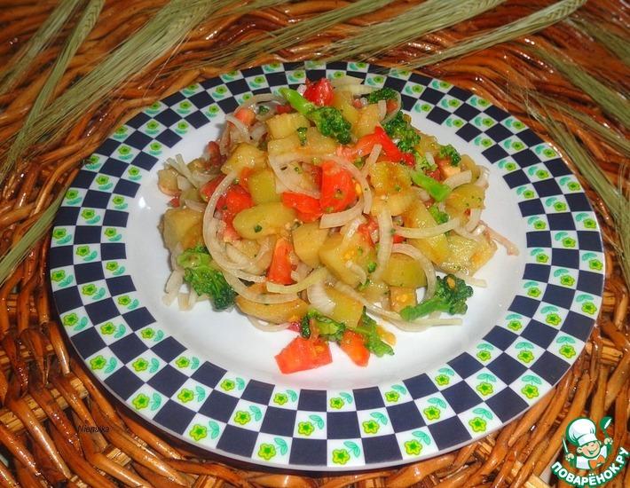 Рецепт: Салат с брокколи и баклажаном
