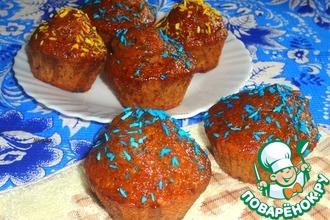 Рецепт: Кексы с нектариновой глазурью