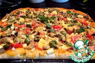 Рецепт: Домашняя пицца