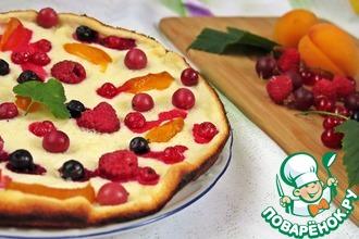 Рецепт: Пышный ягодный блинчик Доброе утро