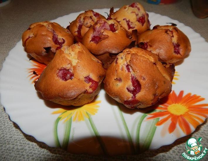 Рецепт: Кексы с ягодами