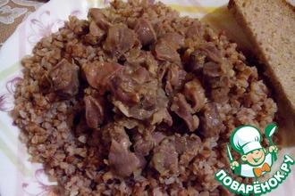Рецепт: Куриные желудочки в соевом соусе с чесноком