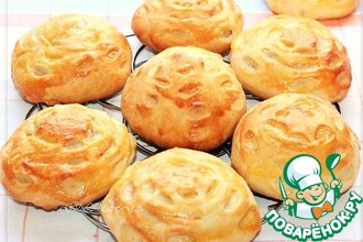 Рецепт: Овсяные булочки с творожной начинкой