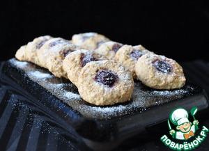 Рецепт Овсяное печенье с вишней и миндалём