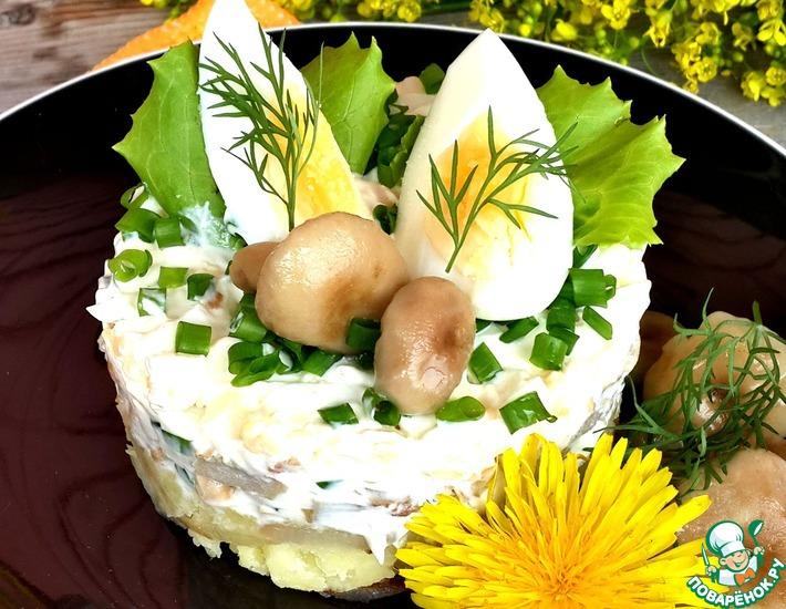 Рецепт: Провинциальный салат с грибами