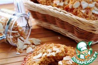 Рецепт: Хрустящее печенье из пшенных хлопьев с орехами