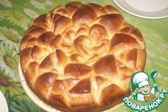 Рецепт: Красивый пирог Цветок