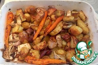 Рецепт: Запеченные овощи со свежими травами