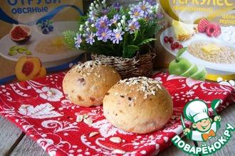 Рецепт: Овсяно-сметанные булочки