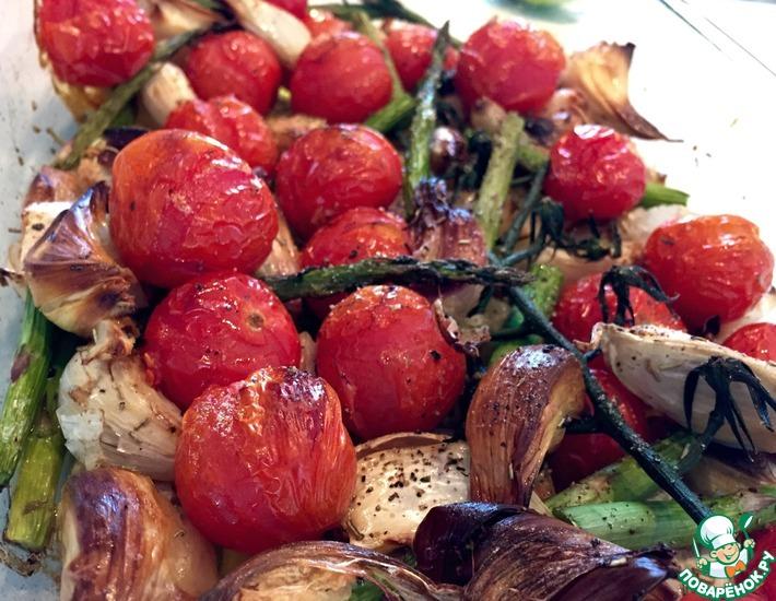 Рецепт: Горячее Летняя тарелка с запеченными овощами