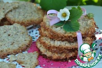 Рецепт: Овсяное кружевное печенье