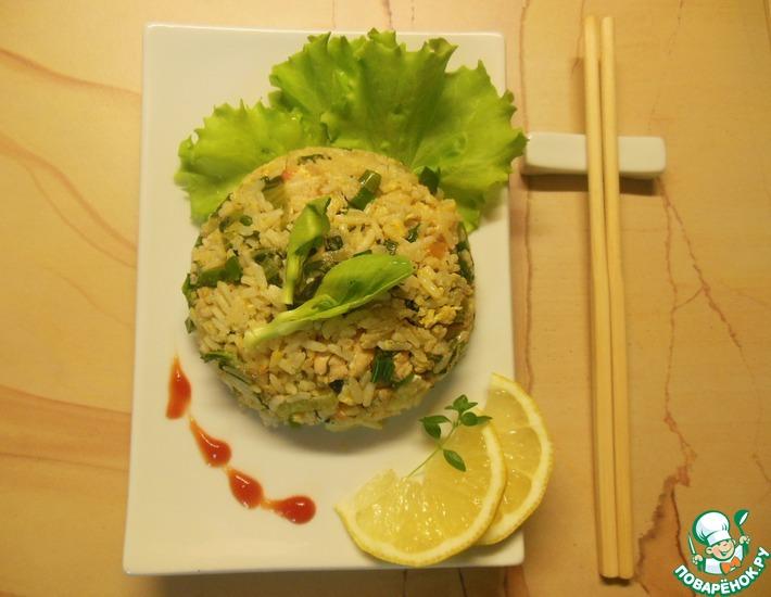 Рецепт: Тайский жареный рис с курицей
