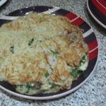Большой драник с начинкой из курицы и сыра