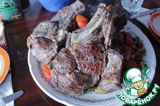Рецепт: Стейк из говяжьей корейки