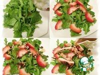 Салат с клубникой, курицей и козьим сыром ингредиенты