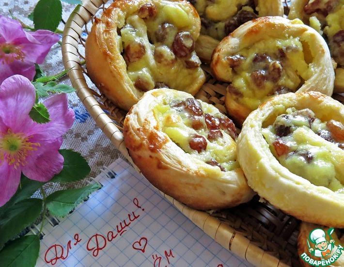 Рецепт: Изысканные булочки с изюмом