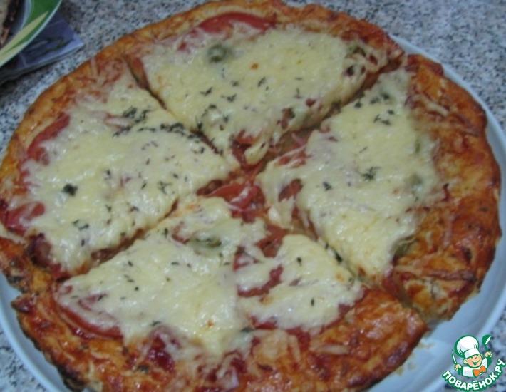 Рецепт: Пицца с красной икрой для гурманов