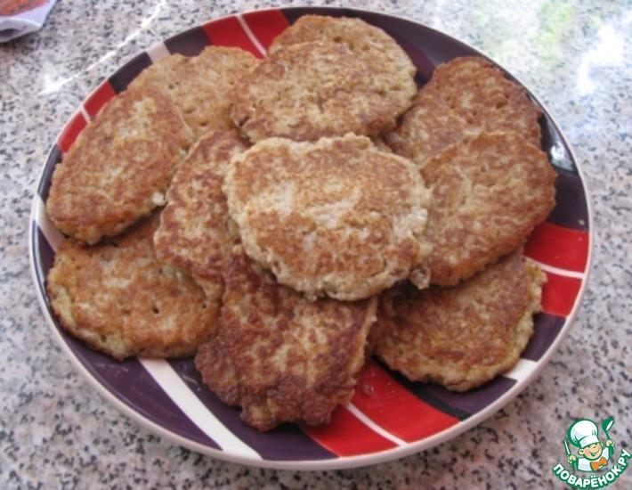 Рецепт: Овсянно-гречневые оладьи на кефире