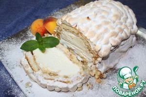 """Рецепт Запеченный с мороженым торт """"Аляска"""""""