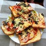 Пицца на пышном корже