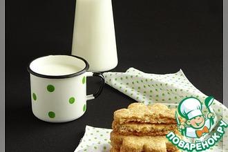Рецепт: Соленое печенье с хлопьями и кунжутом