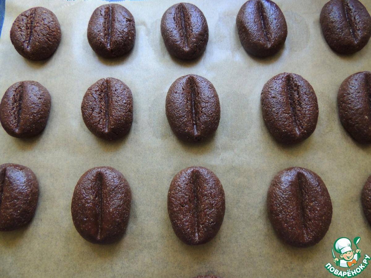 Шоколадно-кофейное овсяное печенье