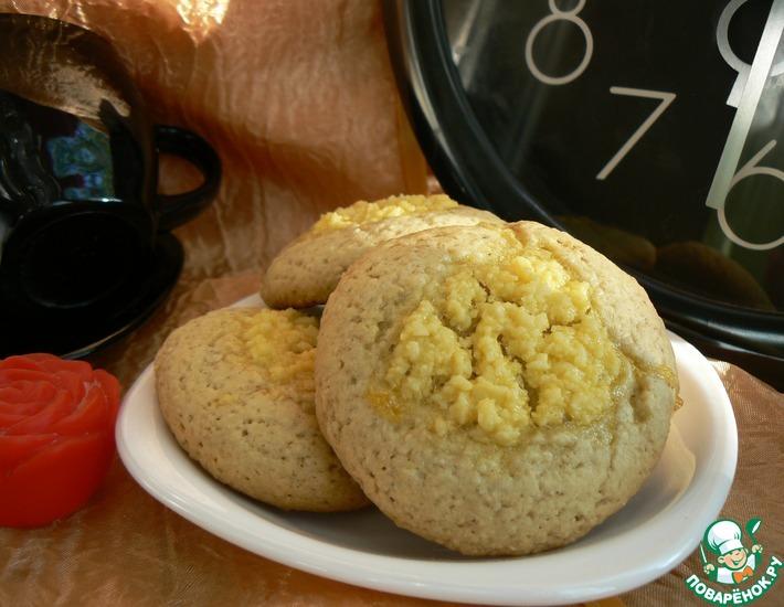 Рецепт: Печенье овсяное А-ля ватрушки