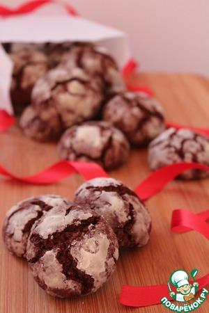 """Рецепт Печенье """"Шоколадные трещинки"""" со злаками"""