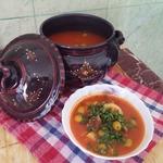 Оливковая тарелка Таджин зитун