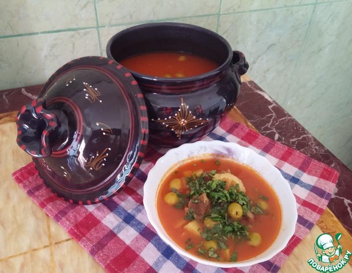 Рецепт: Оливковая тарелка Таджин зитун