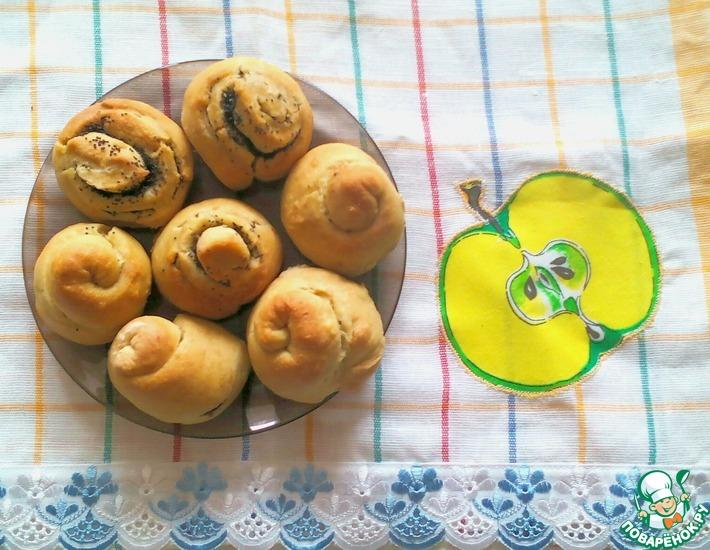 Рецепт: Булочки овсяно-пшеничные с маком и корицей