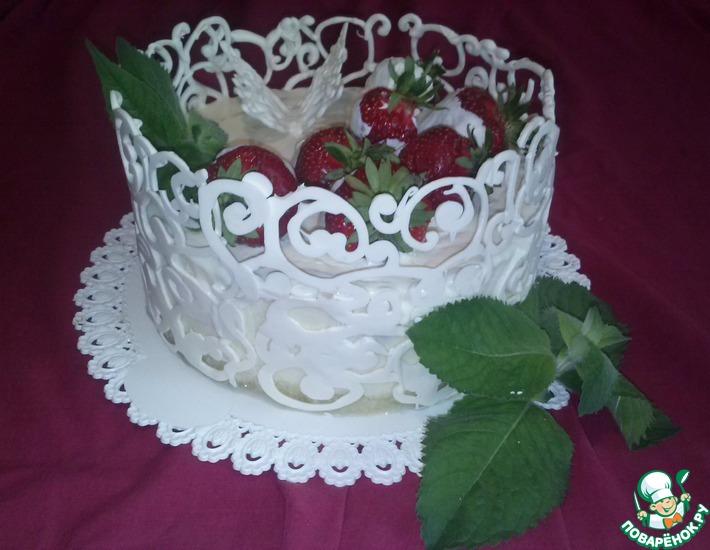Рецепт: Украшение торта шоколентой