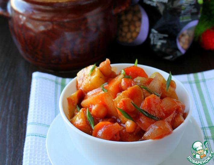 Рецепт: Овощное рагу с нутом