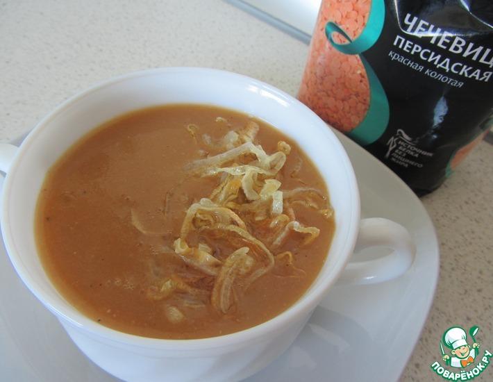 Рецепт: Чечевичный суп с чесноком и кумином