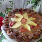 Творожный пирог с яблочным желе