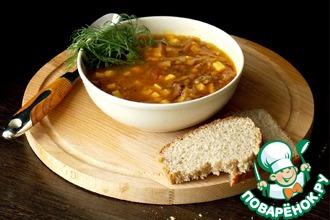 Рецепт: Чечевичный суп с беконом