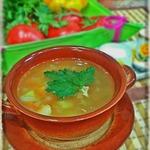 Простой гороховый суп с курицей