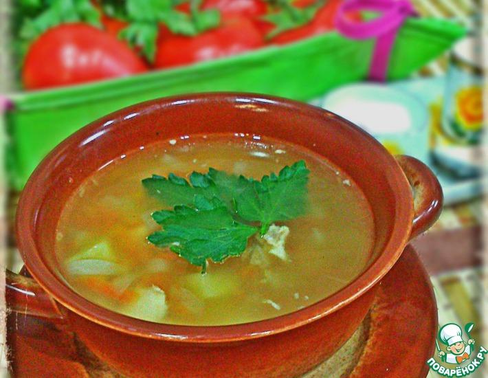 Рецепт: Простой гороховый суп с курицей