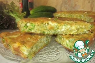 Рецепт: Пирог с яйцами и зелёным луком