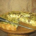 Пирог с творогом и грибами