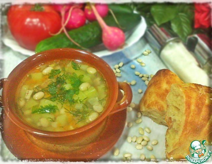 Рецепт: Фасолевый суп с курицей