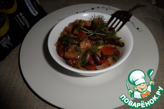 Рецепт: Салат с красной фасолью