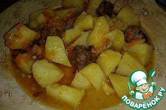 Рецепт: Мясо с картофелем с лимонно-чесночным вкусом